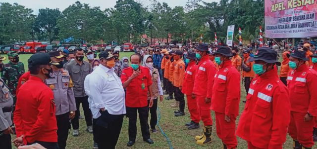 Gubernur Sultra Pimpin Apel Kesiapan Menghadapi Karhutla