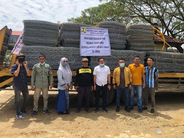 Koltim Keciprat Bantuan Kawat Bronjong Sungai Aere