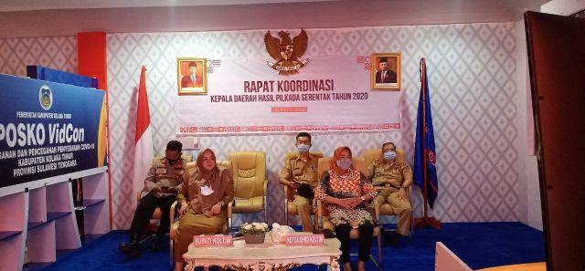 Rakor Bersama, Plt Bupati Koltim Dengarkan Arahan Presiden dan Menteri