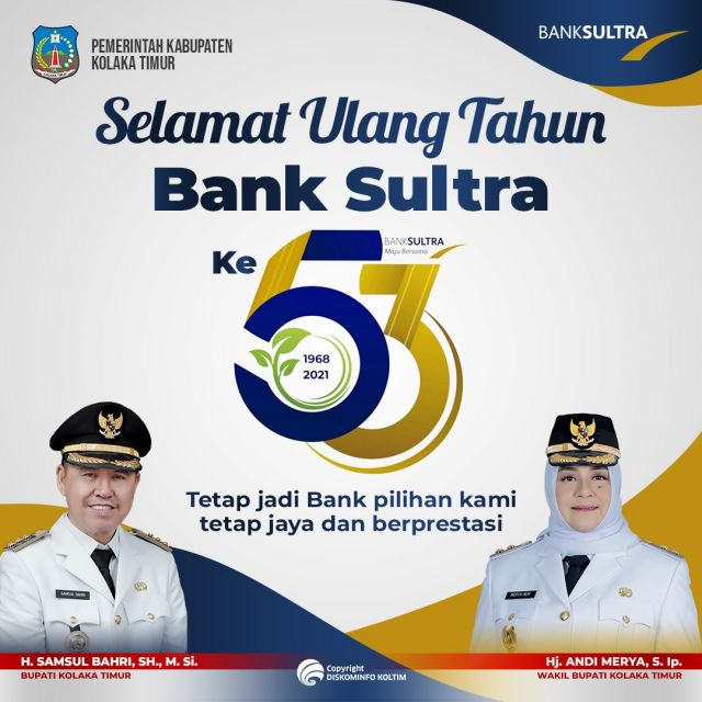 UCAPAN HUT BANK SULTRA KE-53