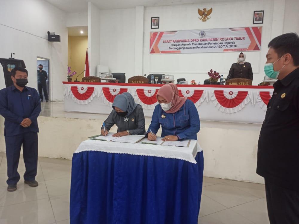 Bupati Apresiasi DPRD Atas Persetujuan Raperda Pertanggungjawaban APBD 2020