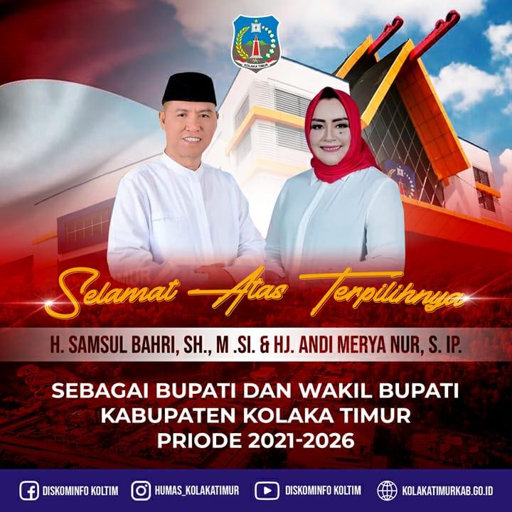 Selamat Kepada Bupati dan Wakil Bupati Koltim Terpilih Periode 2021-2026
